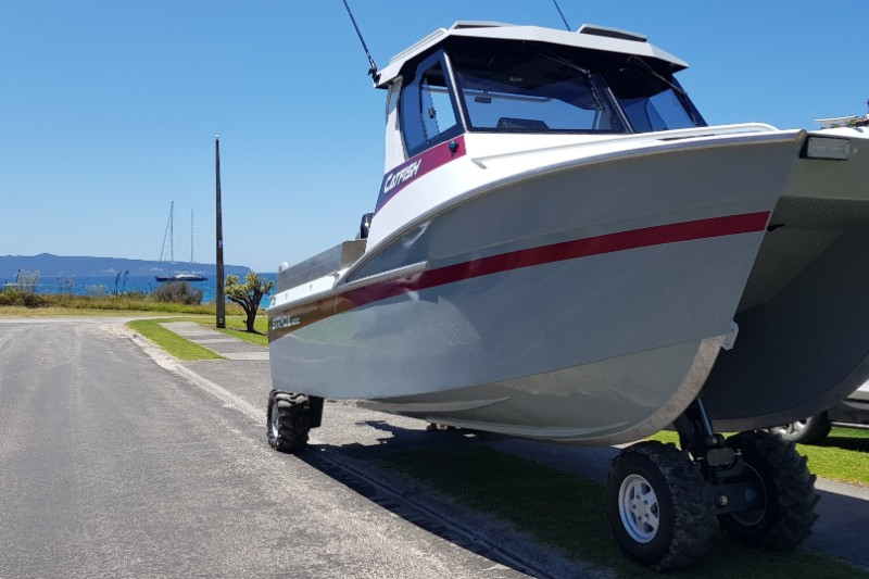 Boat Parked on Street